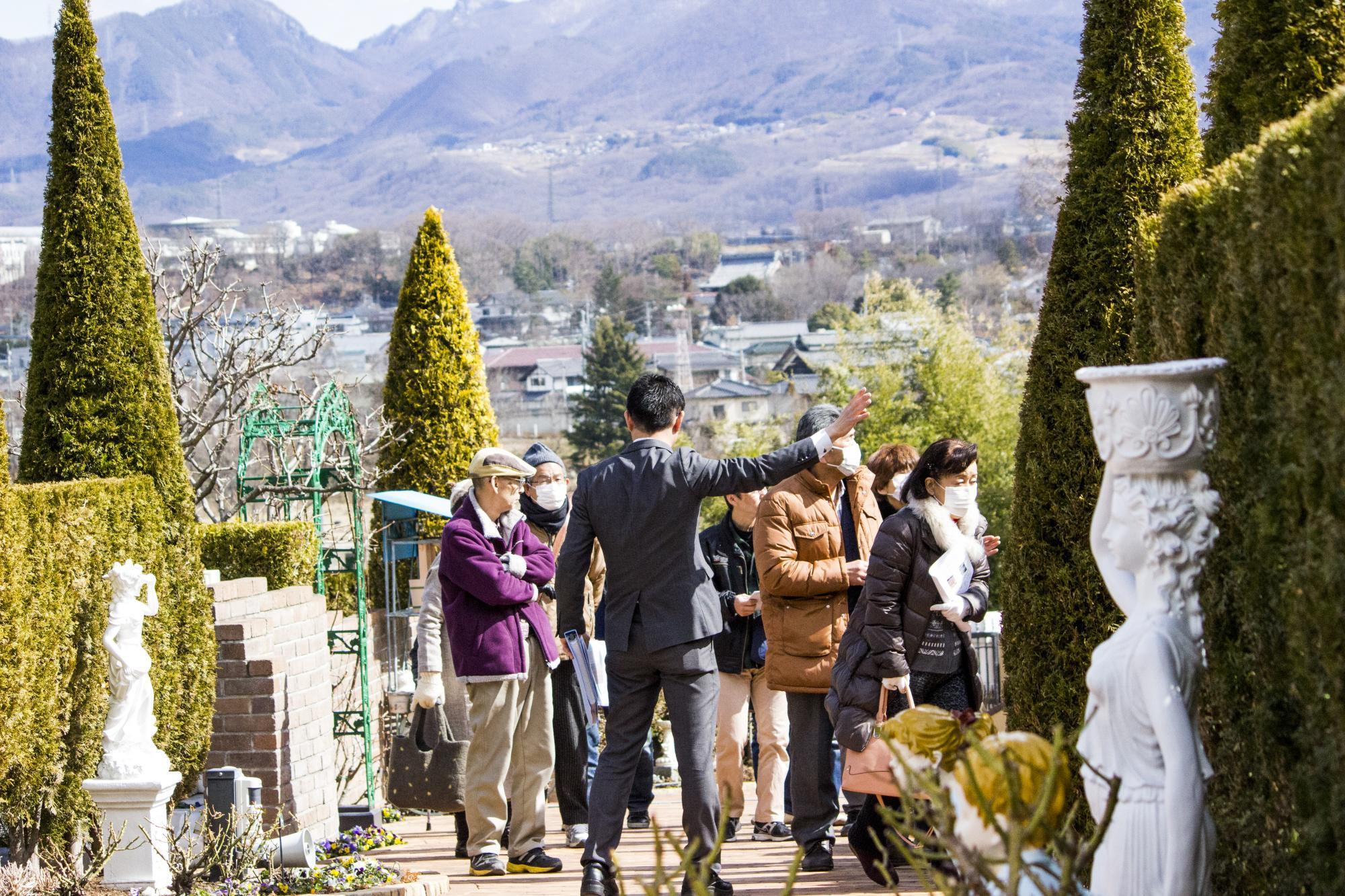 上田市の墓地霊園見学会
